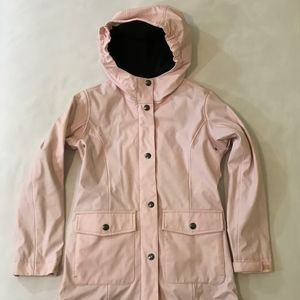 Lands End Pink Hooded Rain Jacket Girls Size S